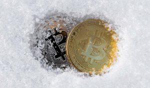 bitcoin enseveli dans la neige