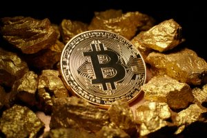 un bitcoin sur de l'or