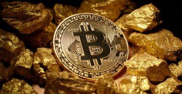 un bitcoin sur de l'or