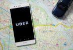 logo Uber sur un Huawei p9
