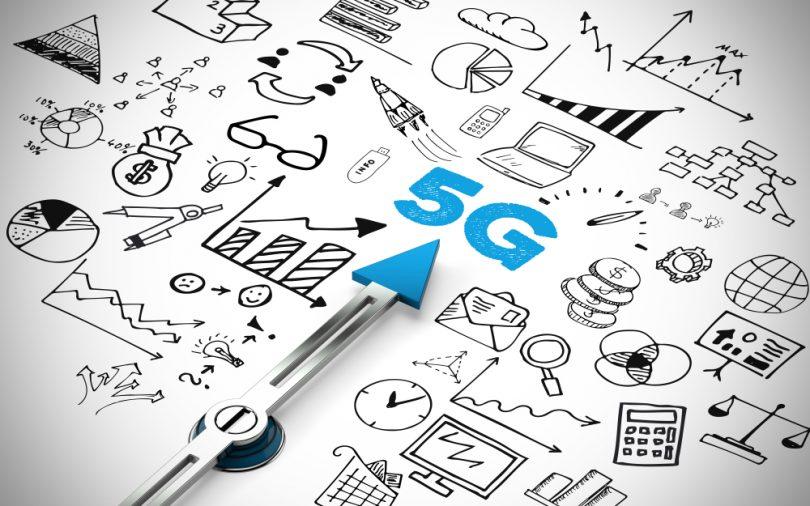 Technologie 5G avec des icônes