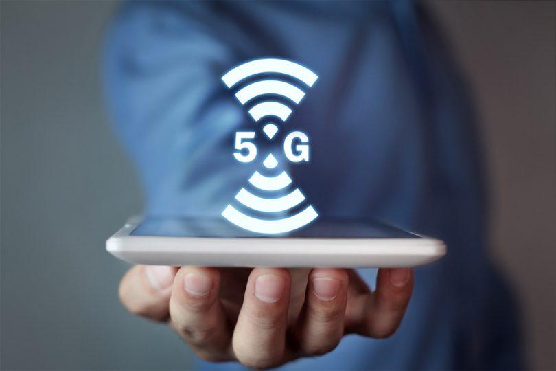 Technologie 5G sur un smartphone