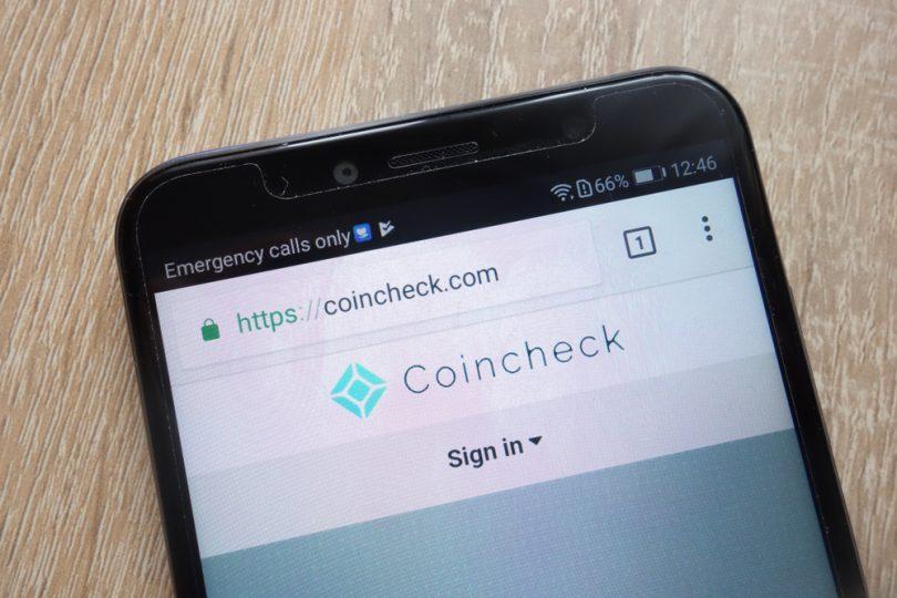 logo de Coincheck sur un smartphone