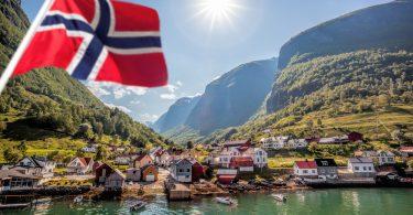 Norvège et Drapeau