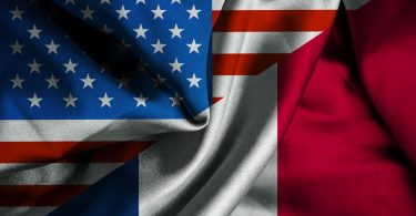 drapeau franco-américaine