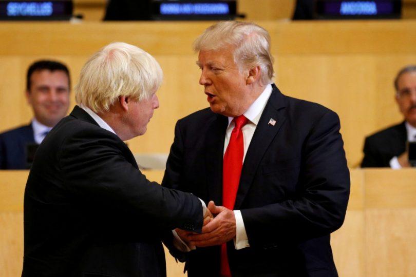 Boris Johnson et Dlnald Trum