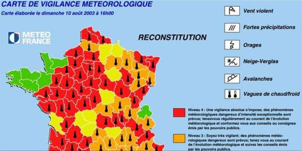 carte de vigilance meteorologique