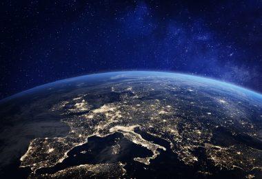 Europe sur le globe